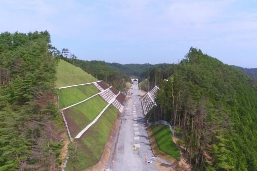 宮城県南三陸町 三陸自動車道 立沢地区道路改良工事